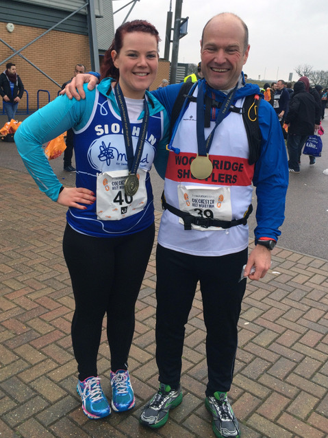 Dave and Siobhan Alley Colchester Half 2015